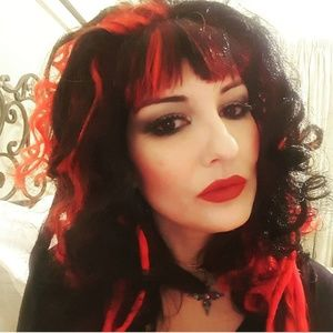 Red and Black Halloween Wig